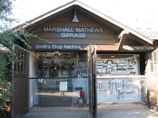 The 1920s Mathews Garage.