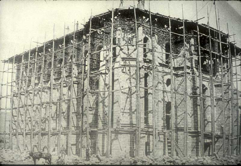Temple construction 1872