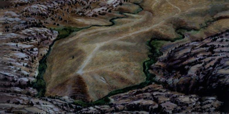 Painting of the Martin's Cove area