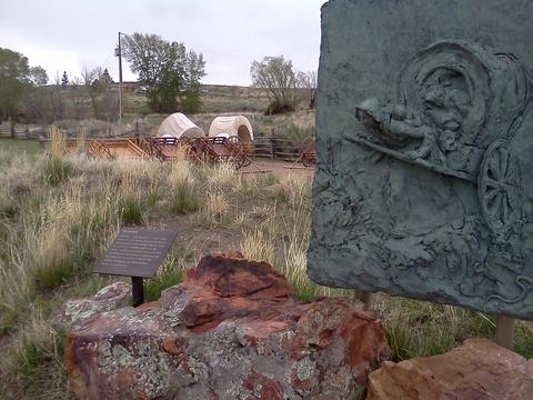 Monument in site honoring the women pioneers