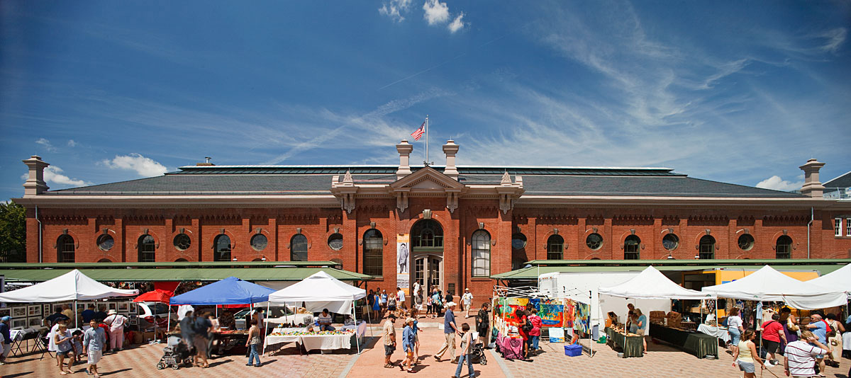 Eastern Market is a premiere place in Washington DC to purchase farm-fresh food and handmade arts and crafts.