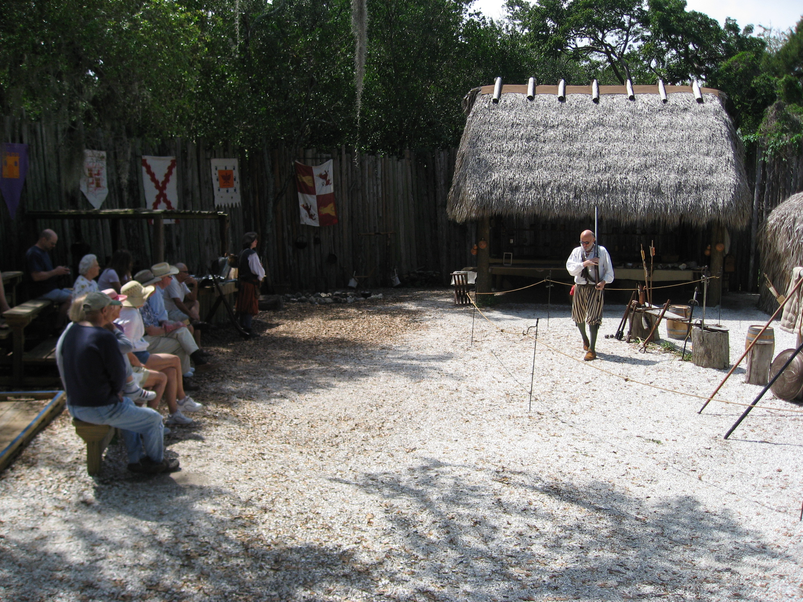 Visitors re-live history at Camp Uzita in the De Soto National Memorial