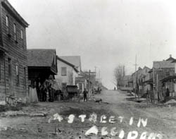 This undated photo of an early street in Accident can be found in the history of the town by local teacher Mary Miller Strauss-click the link below to learn more about the town.