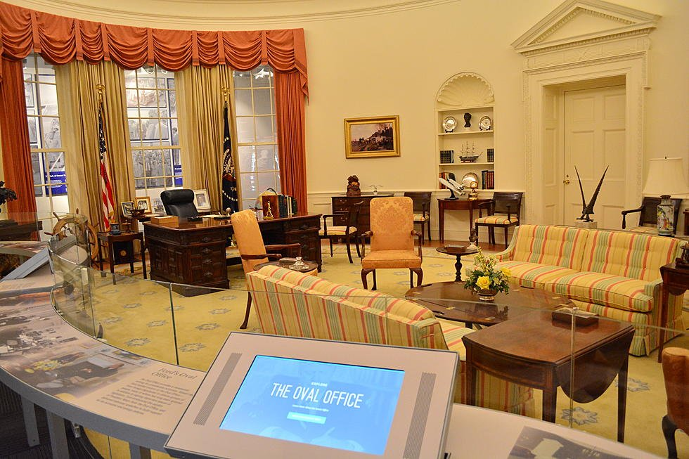 One of the more popular exhibits is a full-scale replica of the Oval Office during the Ford Administration. Image obtained from The River 100.5.