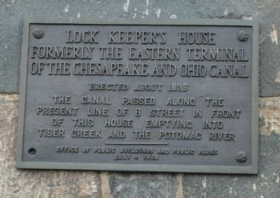 This plaque was added to the building in 1928, shortly before it was used as a public restroom
