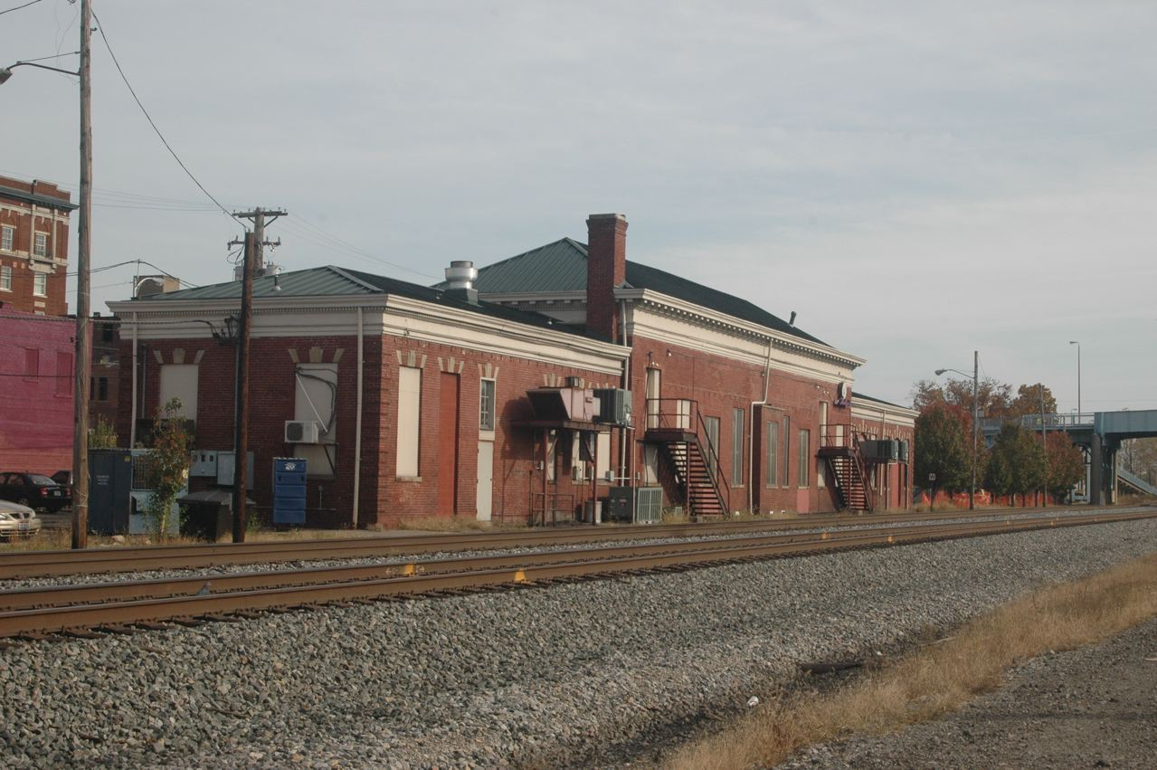 The Depot from the railroad tracks, Ironton, Ohio. From condrenrails.com, by Dave Ingles.
