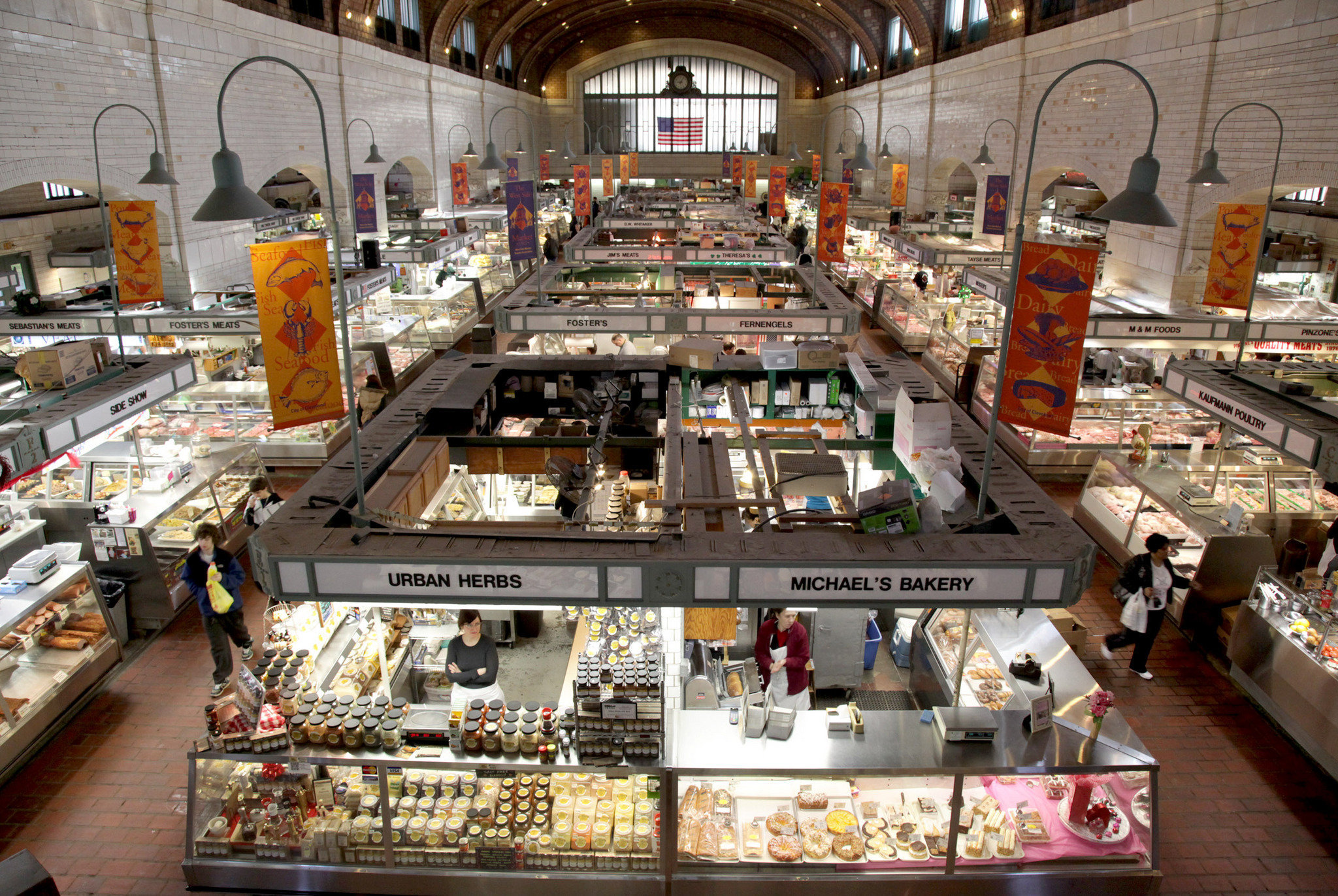 An inside look of the West Side Market.