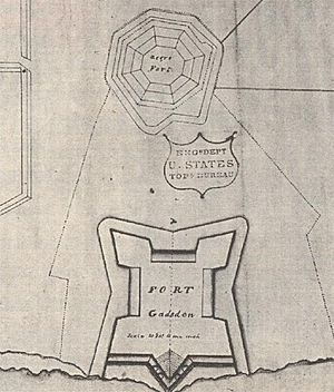 An American map of the later Fort Gadsden next to the older Negro Fort