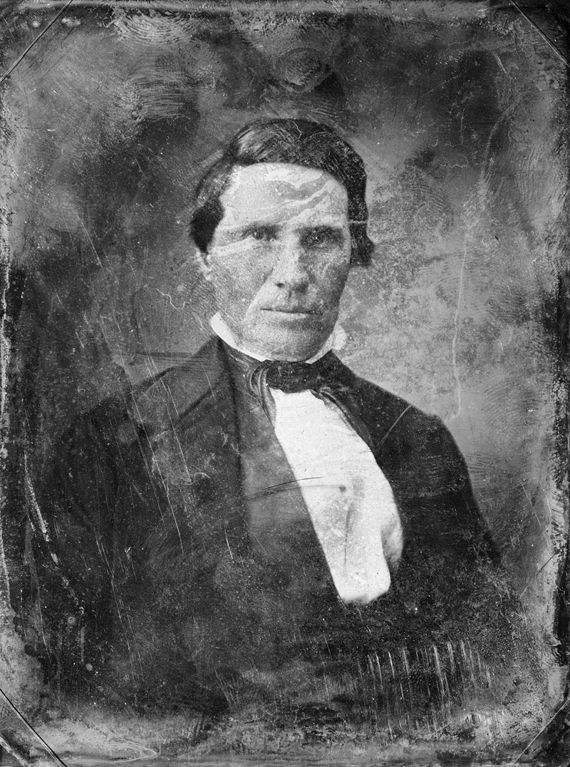 1850s photo of Alexander Doniphan, defender of the Mormon church in Missouri and up until the end of his life.