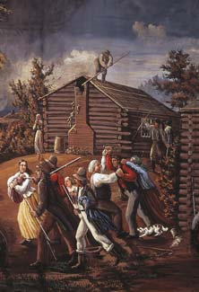 Depiction of mob violence against LDS members in Missouri