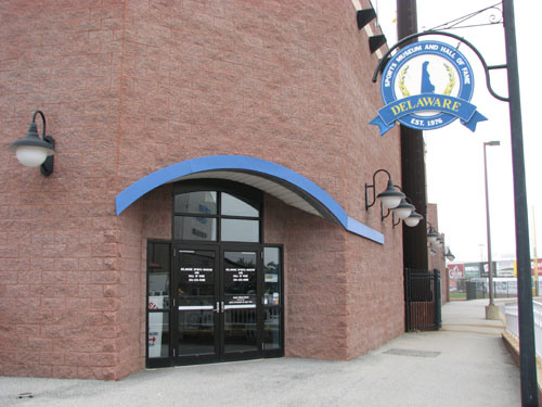 The Delaware Sports Museum and Hall of Fame is housed inside the Daniel S. Frawley Stadium.
