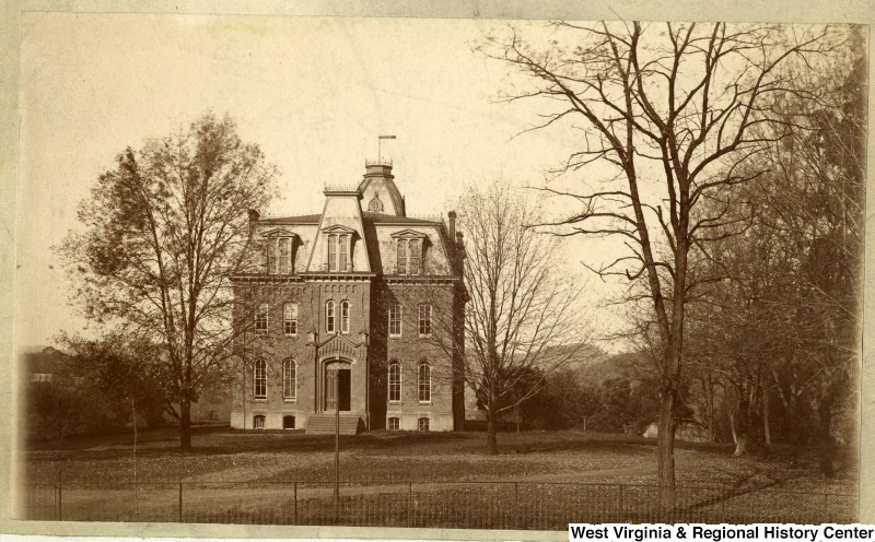 Woodburn Hall prior to construction of the building's north and south wings, photo taken 1890.