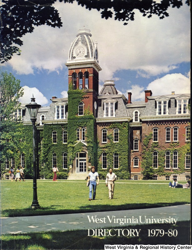 Woodburn Hall is often the star of WVU's promotional materials. The photo also shows Woodburn Hall covered in ivy, as it was for much of the twentieth century.