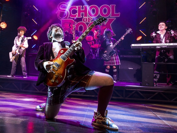 "An action shot of the production, ""The School of Rock"""