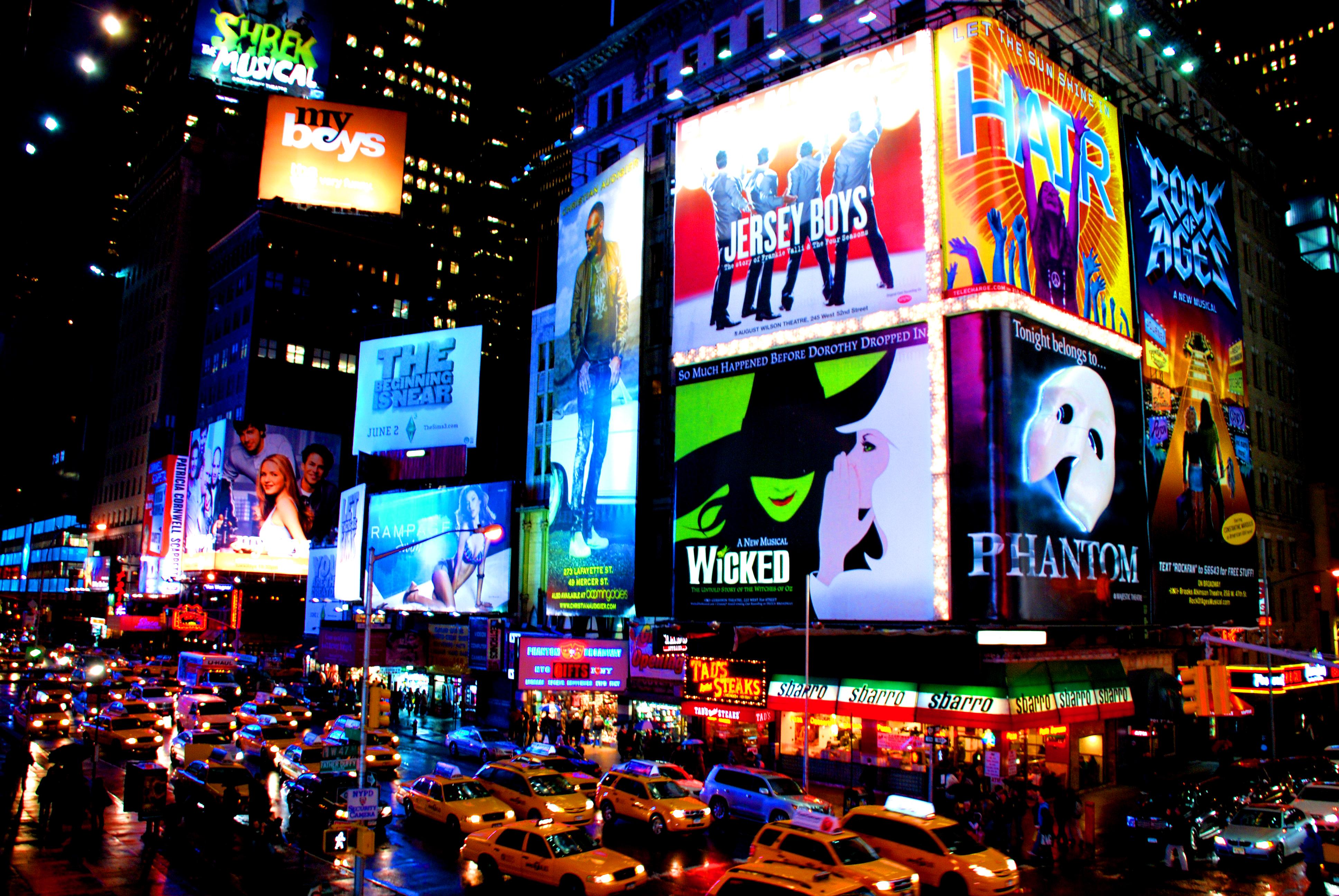 Broadway advertisements