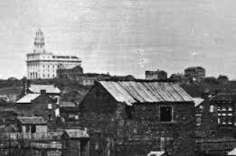 Nauvoo temple overlooking city, 1847