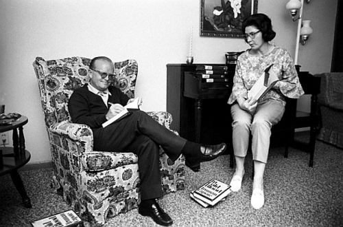 Truman Capote and his childhood friend Harper Lee