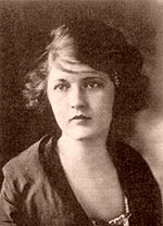 Zelda Sayre in 1917. Zelda was diagnosed with schizophrenia in 1930. Her downward spiral led Fitzgerald into one of his own, where he became closely acquainted with alcoholic beverages
