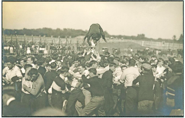 1909 class scrap amongst students at Indiana University. The field was not only for athletes and the occasional MLB team, but also one of the central places that students would congregate in their free time.
