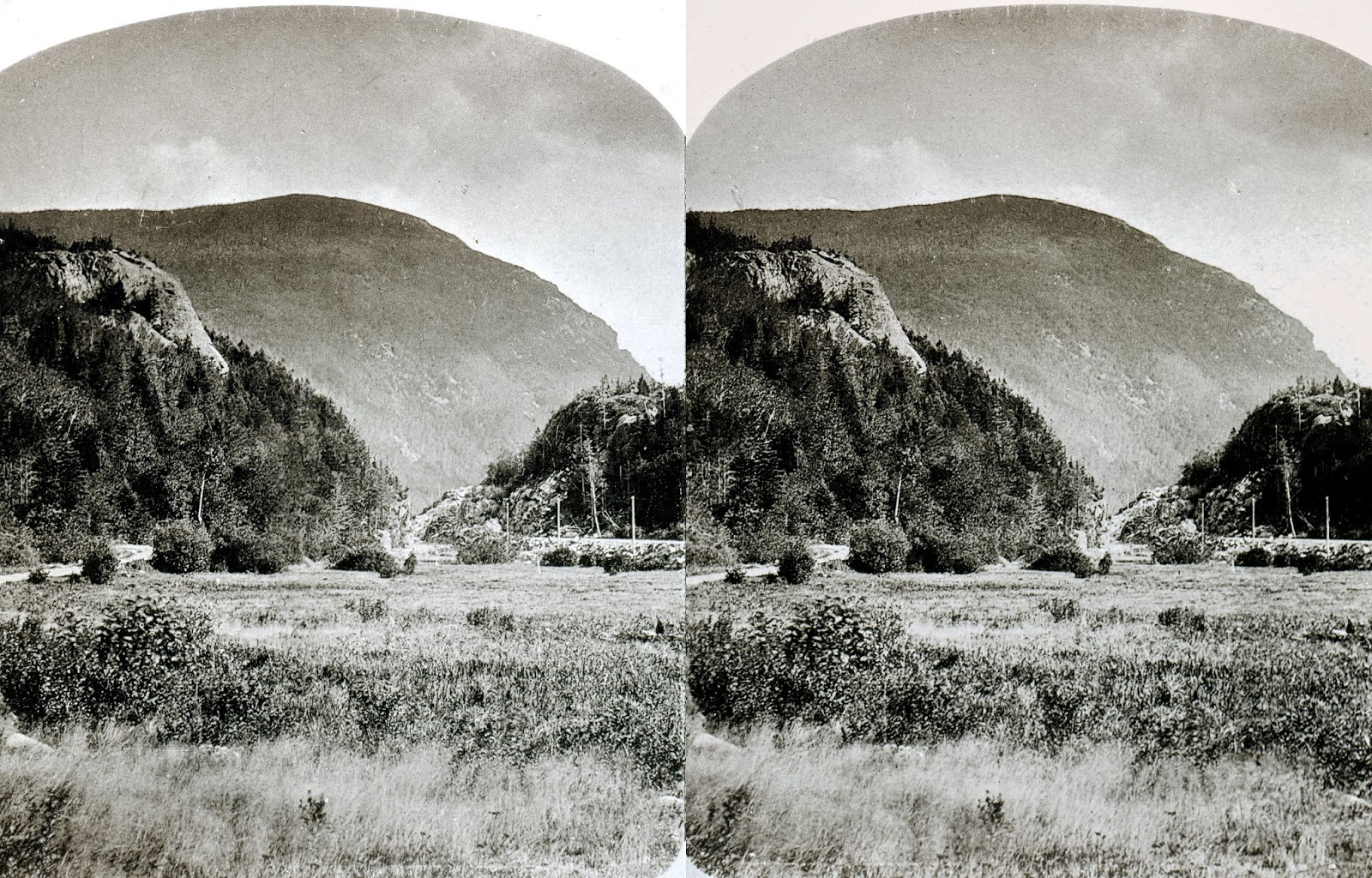 Bierstadt brothers stereoview of the gate of the notch