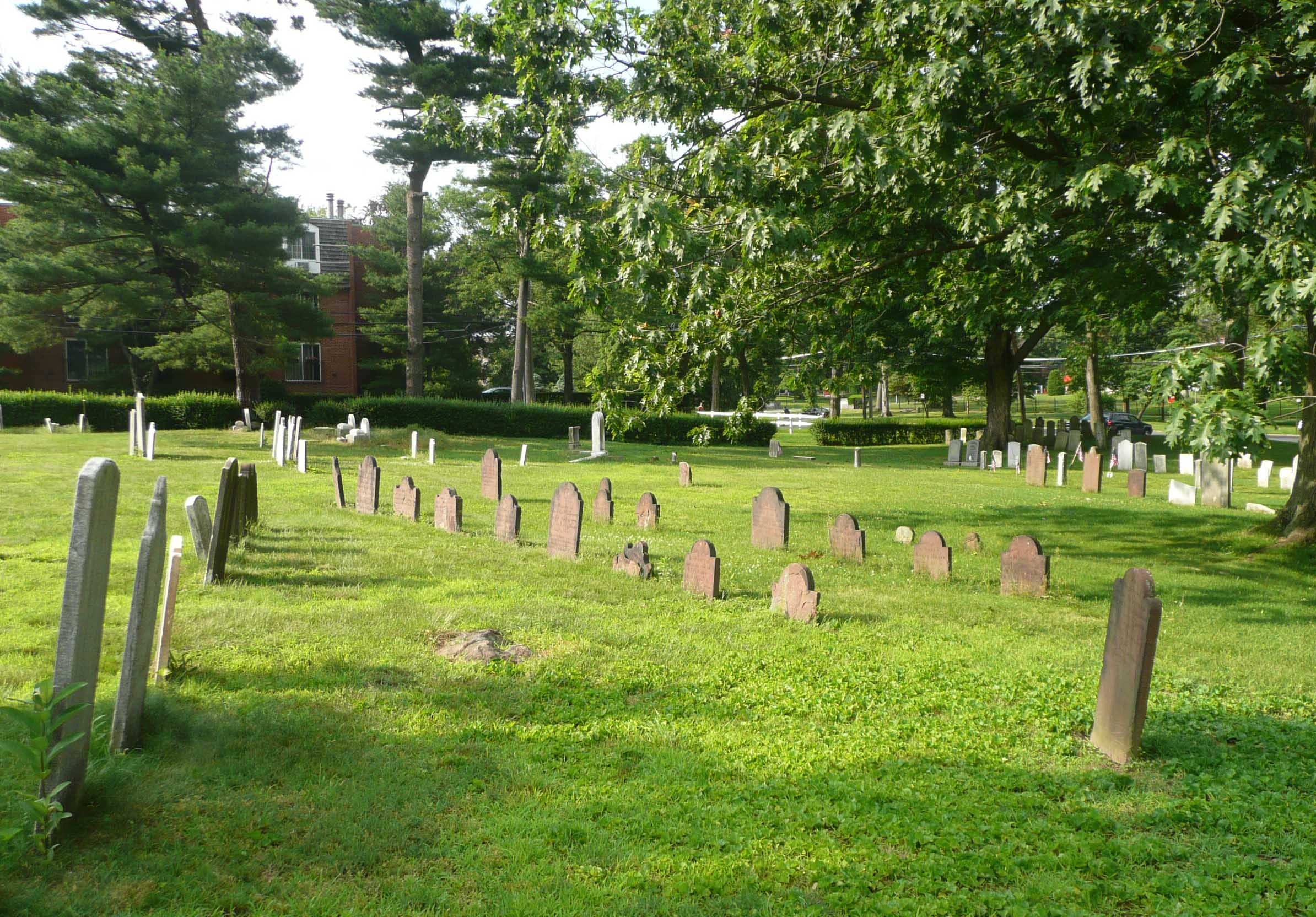 A portion of the White Plains Presbyterian Church Cemetery.