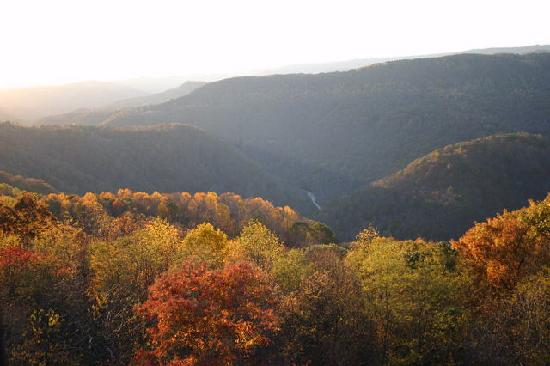 The view from Pipestem Knob- the highest point of the park.