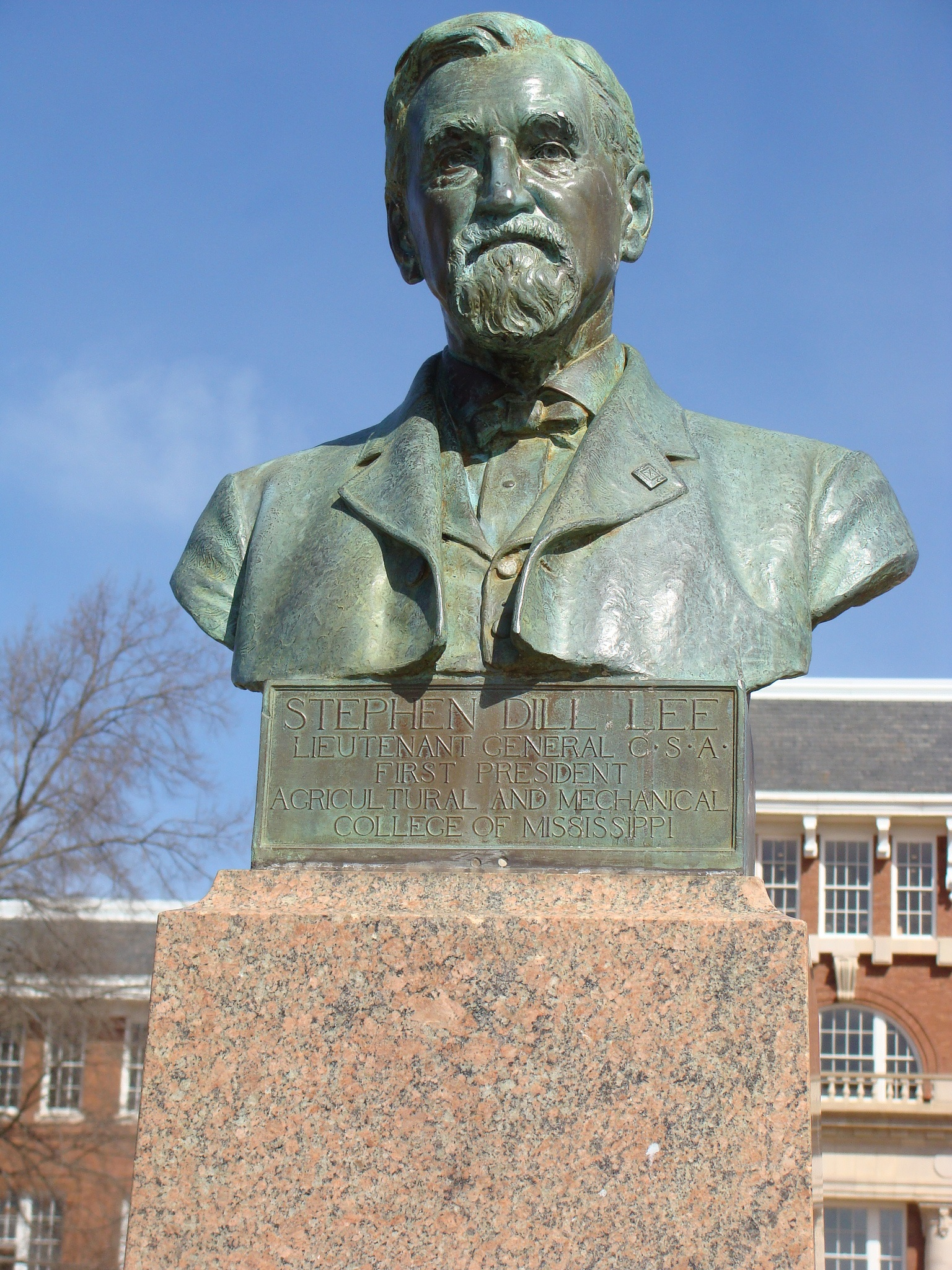 This bust of Stephen Lee was made by 19th century sculptor Theo Alice Ruggles Kitson