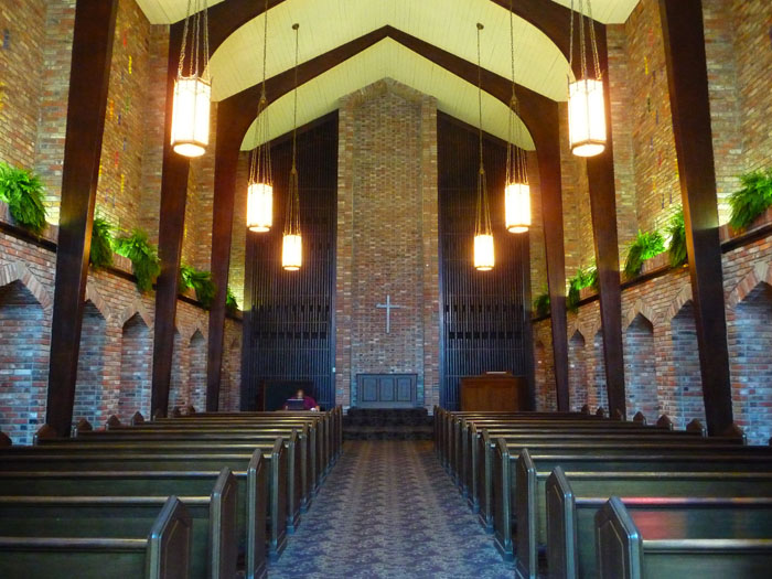 Each year, hundreds of alumni are married at the campus chapel.