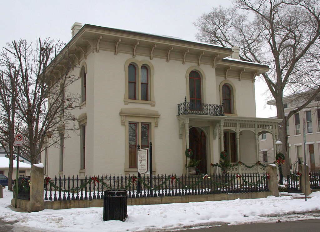 The Benninghofen House was built between 1861-1863 for Noah McFarland.  It came into the Benninghofen family's possession in 1874.  The house was presented to the Butler County Historical Society by Pauline Benninghofen.