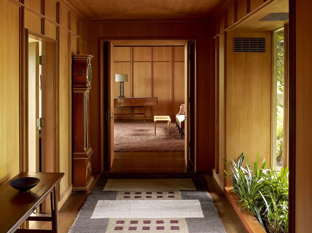 Hallway inside the home. Photo courtesy of Jeremy Bittermann