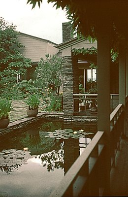 Pond in the courtyard. Photo courtesy of Leland Roth