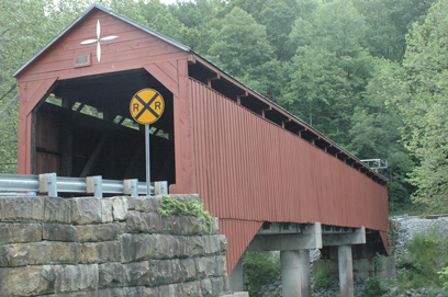 Carrollton Covered Bridge before the 2017 fire