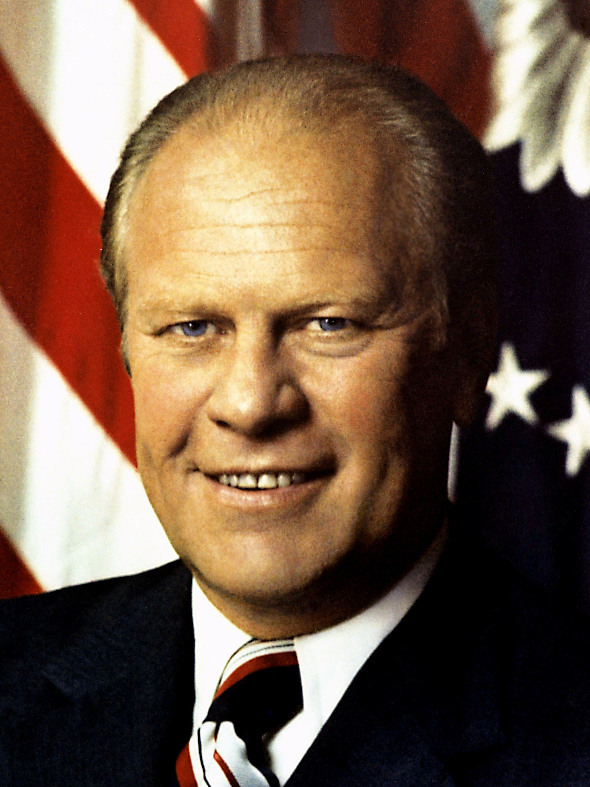 Serving as the 38th President from 1974-1977, Gerald R. Ford Jr. (1913-2006) was a moderate politician whose presidency was largely overshadowed by Richard Nixon's Watergate scandal. Image obtained from Wikimedia.