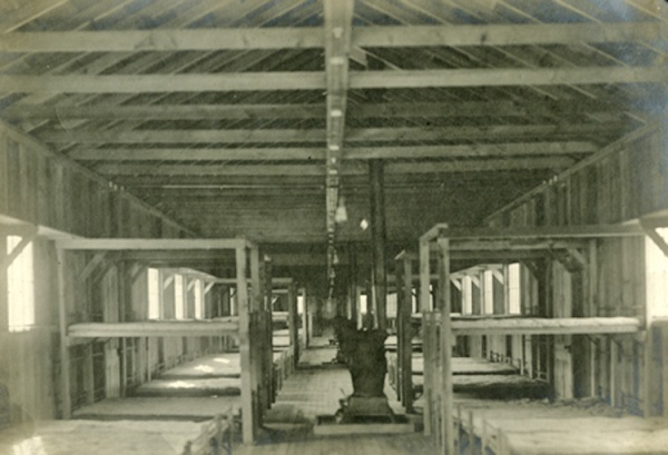 Barracks that were Built with scraps and left over wood and flattened aluminum