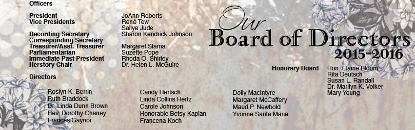 List of 2015/2016 Board of Directors