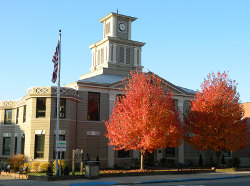 The old Yancey County Courthouse today