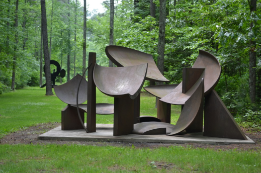One of the numerous sculptures displayed on the grounds