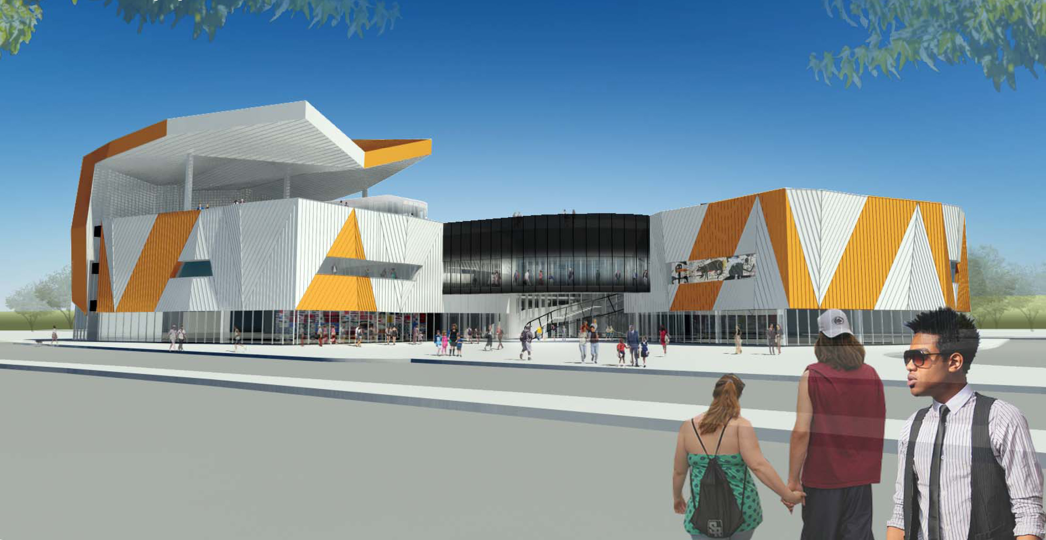 Rendering of the museum's future location