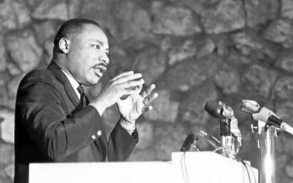 Dr. Martin Luther King Jr. addressing the Christian Action Conference held at Montreat in 1965