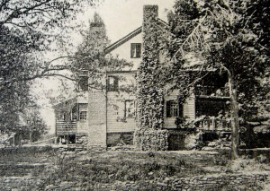 1908 view of the Carson House from across Buck Creek
