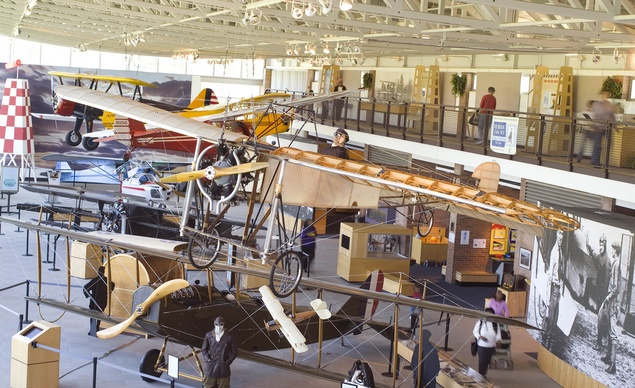 View of some of the planes on display