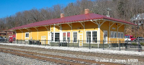 Old Fort Train Station and train track