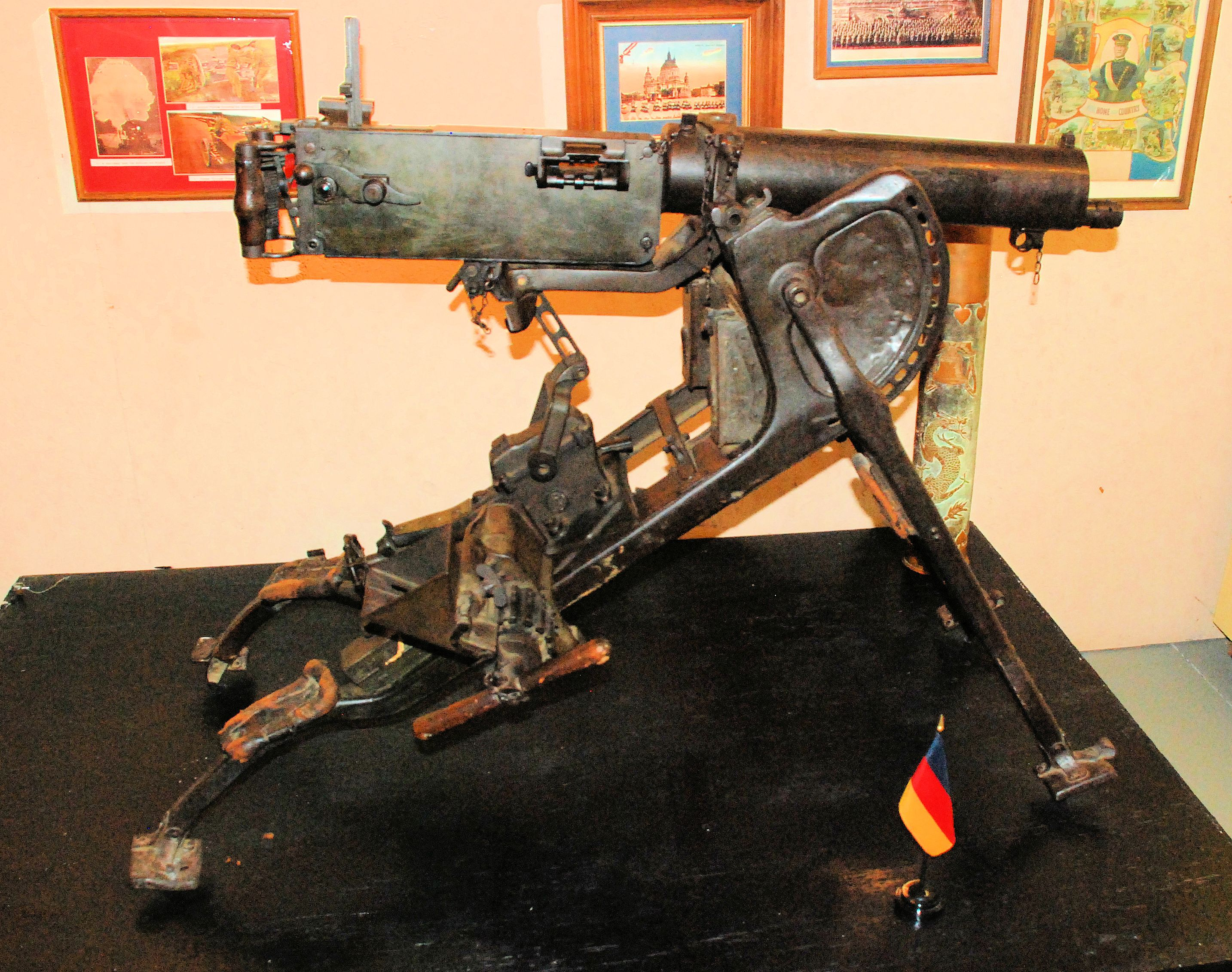 World War I German Spandau machine gun.