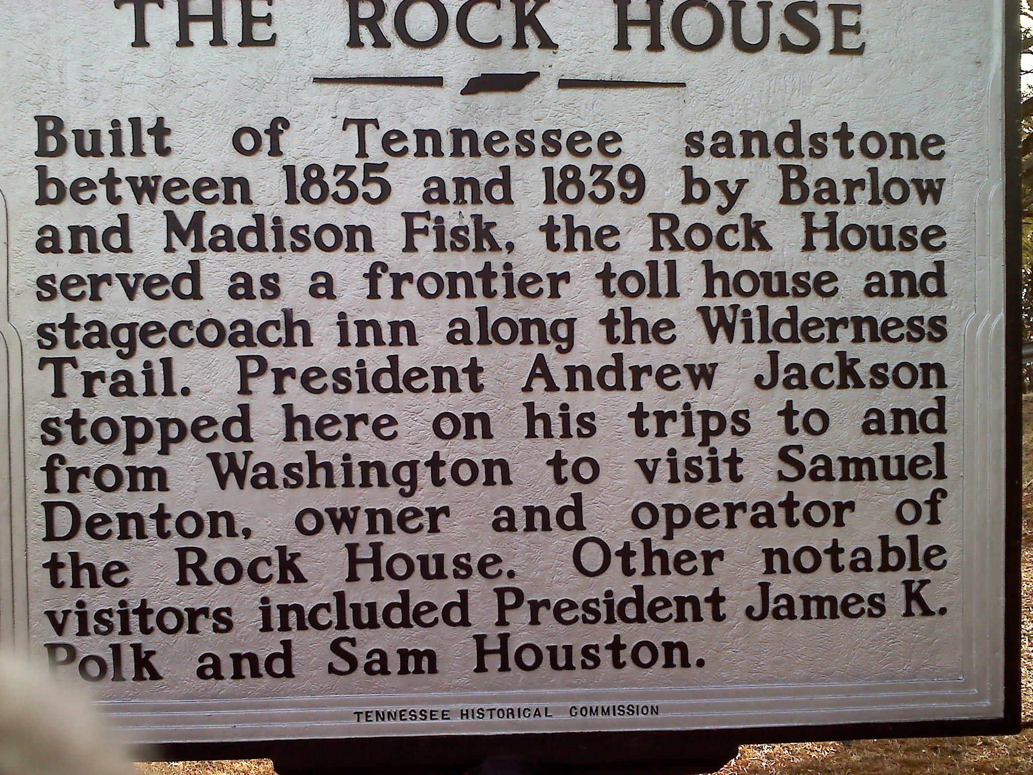 Rock House historical marker.