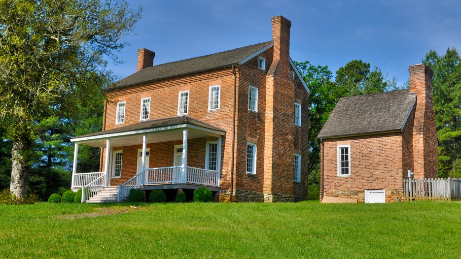 Front view of the 1812 McDowell House