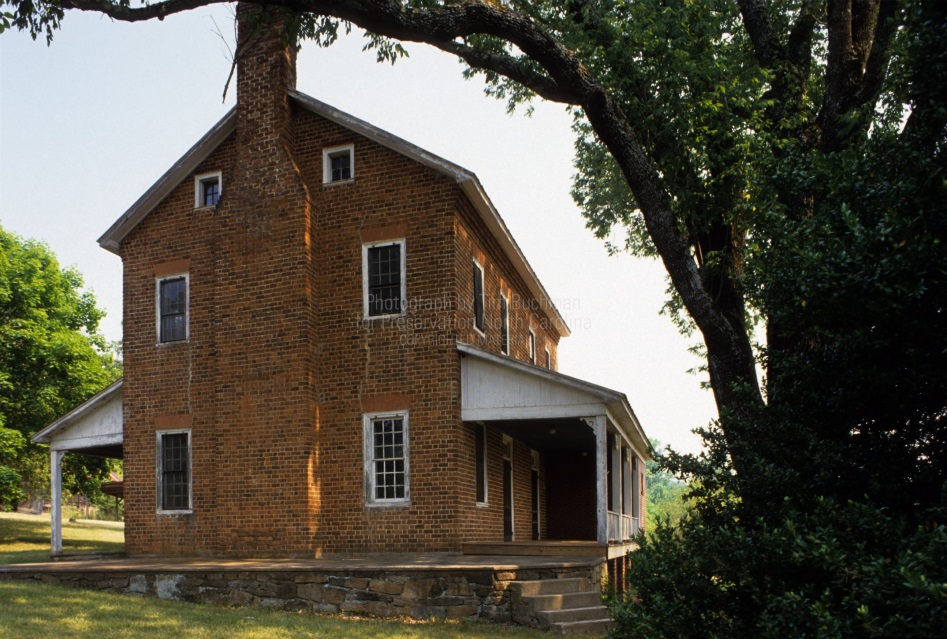 Side view of the McDowell House