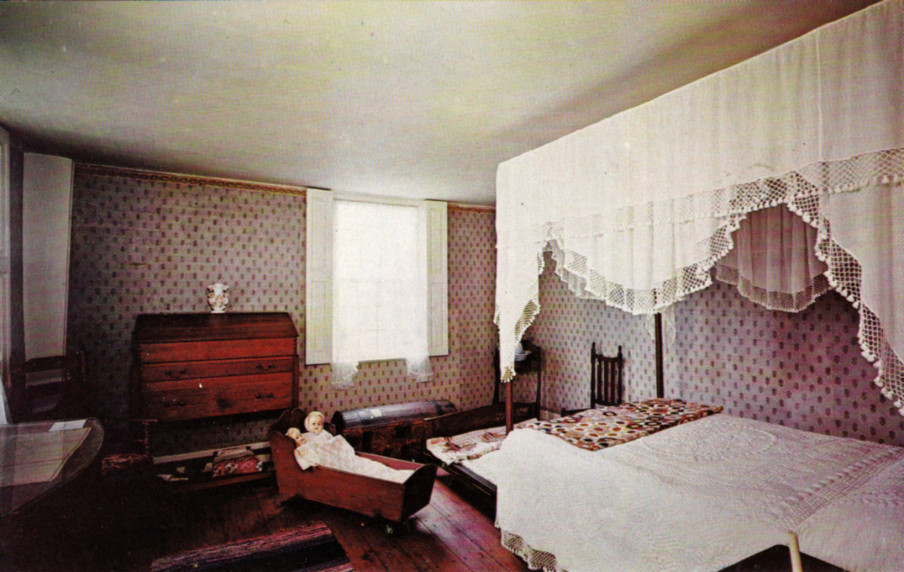 One of the bedrooms within the homestead.