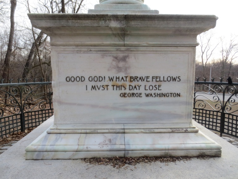 Inscription on another side of the pedestal