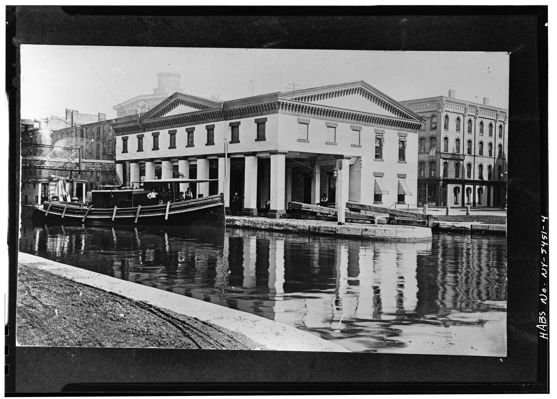 This old photo shows how the building appeared when the canal was still in use.