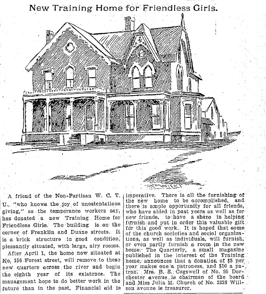 CPD Article, Feb. 1899. Showing first house.